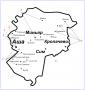 Графическая схема избирательных округов Ашинского района от 2020 года